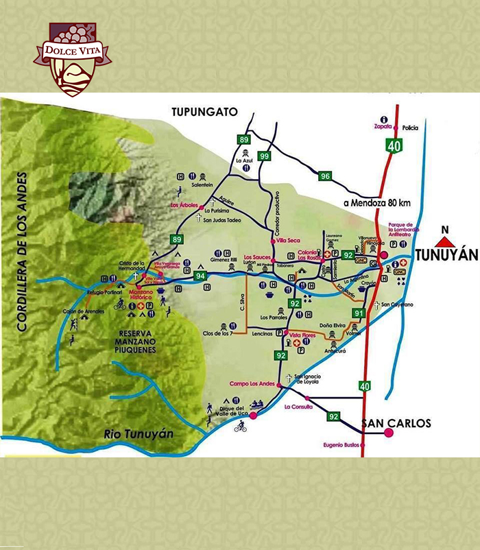 Travel Map Dolce Vita Vineyards